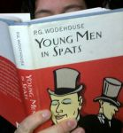 Honoria reads Young Men in Spats