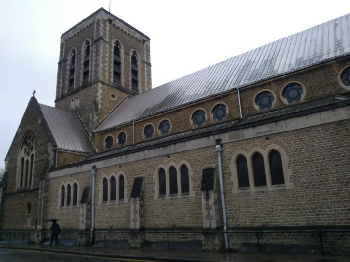 Exterior of St Nicholas' Church, Guildford