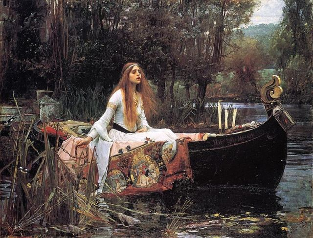 The Lady of Shalott by John William Waterhouse source: http://en.wikipedia.org/wiki/File:John_William_Waterhouse_The_Lady_of_Shalott.jpg