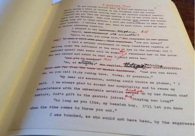 Draft P.G. Wodehouse manuscript
