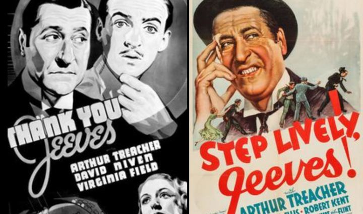 Thank You, Jeeves (1936) and Step Lively, Jeeves! (1937) movie posters